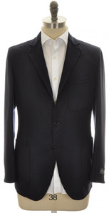 Belvest Sport Coat Jacket 3B Wool Cashmere Size 40 Blue