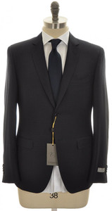 Canali 1934 Suit Trim Fit 2B Wool 42 52 R8 Blue Fancy 25SU0151