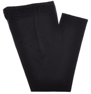 Incotex Dress Pants Cotton Stretch Twill 38 54 Washed Dark Blue 08PT0180