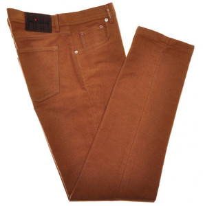 Kiton Jeans 5 Pocket Soft Cotton Flannel 40 56 Brown 01JN0406