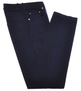 Kiton Jeans 5 Pocket Cotton Stretch Twill 32 48 Blue 01JN0403