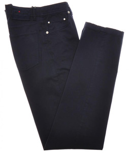 Kiton Jeans 5 Pocket Cotton Stretch Twill 32 48 Blue 01JN0412