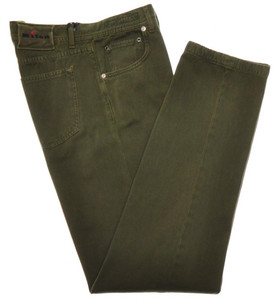 Kiton Jeans 5 Pocket Cotton Cashmere Soft Twill 34 50 Green 01JN0410