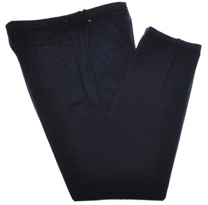 Kiton Luxury Pants Cotton Stretch Twill 40 56 Washed Blue 01PT0140
