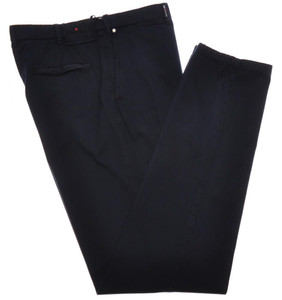 Kiton Luxury Pants Cotton Stretch Twill 40 56 Washed Blue 01PT0139