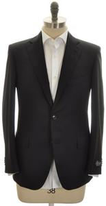 Belvest Sport Coat Jacket 2B 120s Wool 38 48 Black Solid 50SC0180