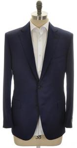 Belvest Sport Coat Jacket 2B 110s Wool 44 S 54 C Blue Solid 50SC0179