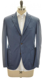 Boglioli 'Coat' Sport Coat Jacket 3B Cotton Stretch 40 50 Blue 24SC0186
