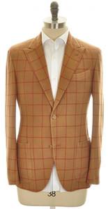 Boglioli 'K Jacket' Sport Coat 2B Peak Wool Cashmere 38 48 Brown 24SC0156