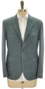 Boglioli 'Coat' Sport Jacket 3B Cotton Denim 38 48 Blue Solid 24SC0210