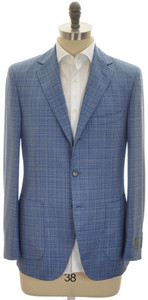Belvest Sport Coat Jacket 3B Wool Size 40 Blue
