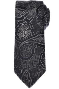 Brioni Tie Silk Gray Navy Blue Paisley 03TI0613