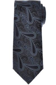 Brioni Tie Silk Blue Gray Paisley 03TI0612