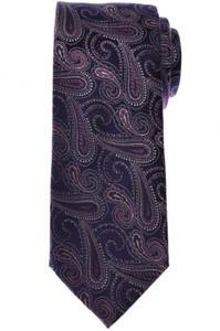 Brioni Tie Silk Purple Paisley 03TI0611