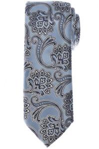 Brioni Tie Silk Blue Gray Paisley 03TI0610