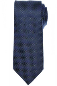 Brioni Tie Silk Blue Gray Geometric 03TI0600