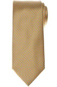 Brioni Tie Silk Yellow Gray Geometric 03TI0598