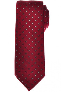 Brioni Tie Silk Dark-Red Gray Geometric 03TI0595