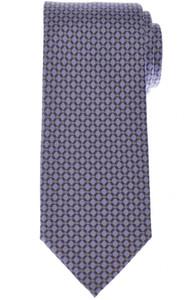 Brioni Tie Silk Purple Gray Geometric 03TI0593
