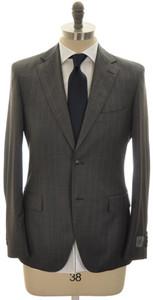 Belvest Suit 2B Wool 130's 38 48 Gray Stripe 50SU0140