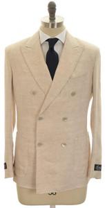Belvest Suit DB Linen 40 50 Brown Solid 50SU0157