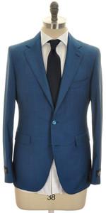 Belvest Suit 2B Wool Mohair 40 50 Teal Blue Solid 50SU0155