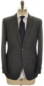 Belvest Suit 2B Wool 130's 48 58 Brown Birdseye 50SU0154