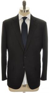 Belvest Suit 2B Wool 120's 46 56 Black Solid 50SU0165