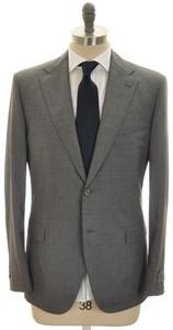 Belvest Suit 2B Wool 120's 46 56 Gray Solid 50SU0163