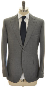 Belvest Suit 2B Wool 120's 44 54 Gray Solid 50SU0162