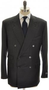 Belvest Suit DB Wool 110's 48 58 Gray Solid 50SU0160