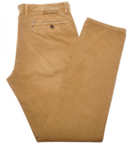 Incotex Red Casual Dress Pants Washed Cotton 36 52 Brown-Yellow 08PT0190