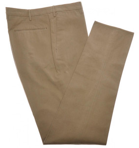 Incotex Dress Pants Cotton Twill 40 56 Khaki Brown 08PT0186