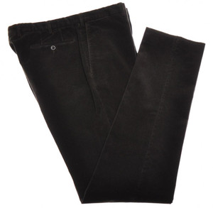 Incotex Dress Pants Cotton Corduroy Stretch 40 56 Dark Brown 08PT0202