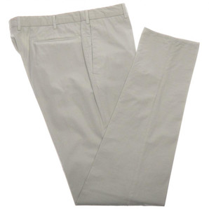 Incotex Dress Pants Cotton Fine Twill 38 54 Light Gray 08PT0196