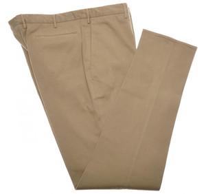Incotex Dress Pants Cotton Brushed Twill Stretch 42 58 Brown 08PT0195