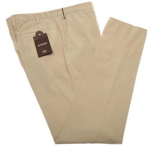 PT01 Pantaloni Torino Pants Cotton Cashmere 40 56 Khaki Brown PT0128
