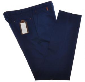 PT01 Pantaloni Torino Pants Paisley Chino Cotton Stretch 40 56 Blue PT0127