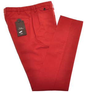 PT01 Pantaloni Torino Evo Fit Pants Cotton Stretch 34 50 Red 32PT0136
