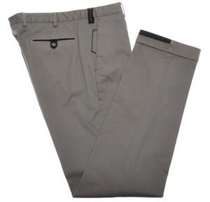 PT01 Pantaloni Torino Pants Cotton Stretch 34 50 Brown Blue 32PT0135