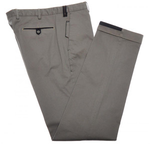 PT01 Pantaloni Torino Pants Cotton Stretch 34 50 Brown Blue 32PT0135