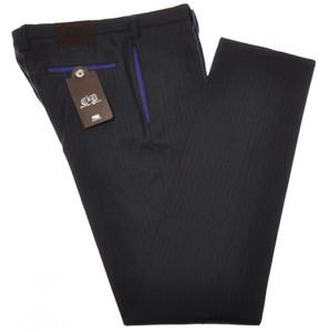 PT01 Pantaloni Torino Slim Pants Cotton Wool 36 52 Gray Purple 32PT0134