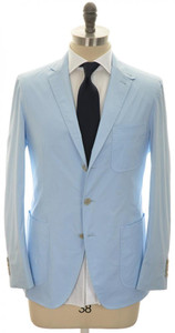 Belvest Suit 3B Super Light Cotton Poplin 40 50 Light Blue 50SU0172