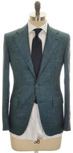 Belvest Suit 3B Wool Silk Blend 38 48 Green 50SU0182