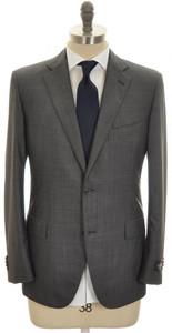 Belvest Suit 2B Wool 120's 40 50 Gray Solid Tick Weave 50SU0185