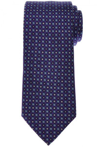 Brioni Tie Silk Purple Blue Geometric 03TI0624