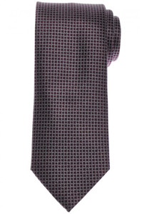 Brioni Tie Silk Purple Silver-Gray Geometric 03TI0632