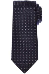 Brioni Tie Silk Navy Blue Pink Geometric 03TI0630