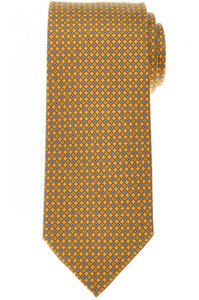 Brioni Tie Silk Yellow Blue Geometric 03TI0629