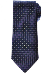 Brioni Tie Silk Blue Purple Geometric 03TI0637